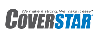 Coverstar Logo - We make it strong. We make it easy. (TM symbol)